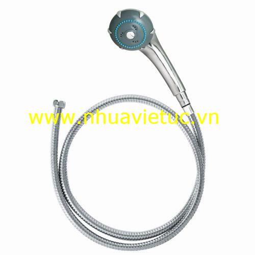 Bộ vòi sen 1 chức năng (bát chân mạ Cr-Ni, dây Inox) - T121