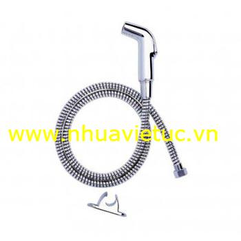 Bộ vòi xịt mạ Cr-Ni, dây Inox (Vòi, dây Inox, chân) - T133
