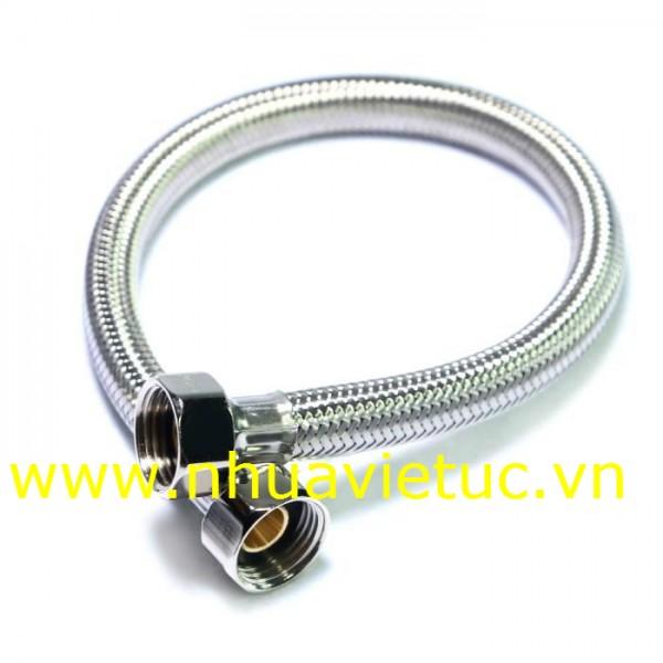 Dây cấp Inox bọc vỏ nhựa, đầu đồng - T022
