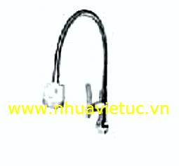 Vòi chậu đơn cắm tường HK ống mềm - T167-A
